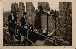 Kissing the Blarney Stone - Blarney Castle