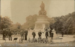Soldiers Memorial, Cannon Hill Park Postcard