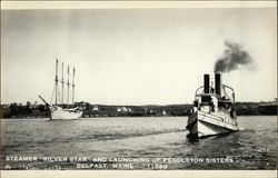 "Steamer ""Silver Star' and Launching of Pendleton Sisters"