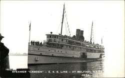 "Steamer ""Camden,"" E.S.S. Line at Belfast, Maine"