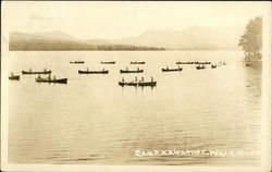 Canoes at Camp Kawanhee