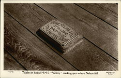 "Tablet on Board HMS ""Victory"""