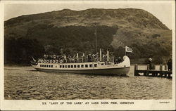 "S.Y. ""Lady of the Lake"" at Lake Bank Pier Postcard"
