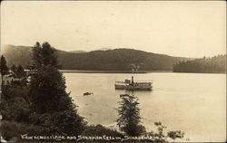 View Across Lake and Steamer Evelyn, Schroon Lake