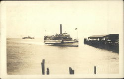 Steamer Coming Into Dock