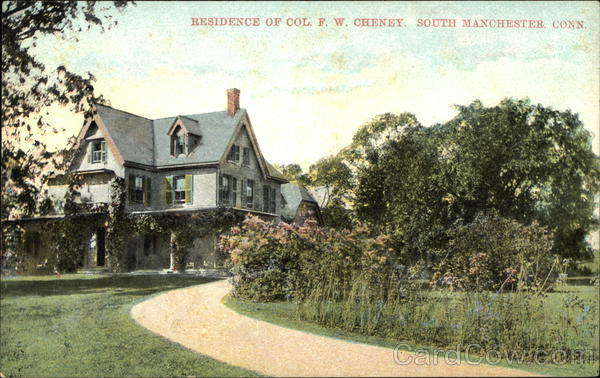 Residence of Colonol FW Cheney South Manchester Connecticut