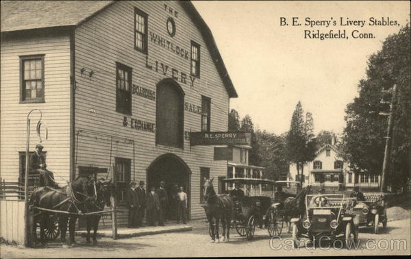 B.E. Sperry's Livery Stables Ridgefield Connecticut