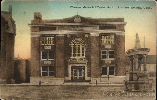 Warren Memorial Town Hall Stafford Springs Connecticut