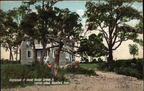 Residence of Anson Phelps Stokes Jr., Caritas Island Stamford Connecticut