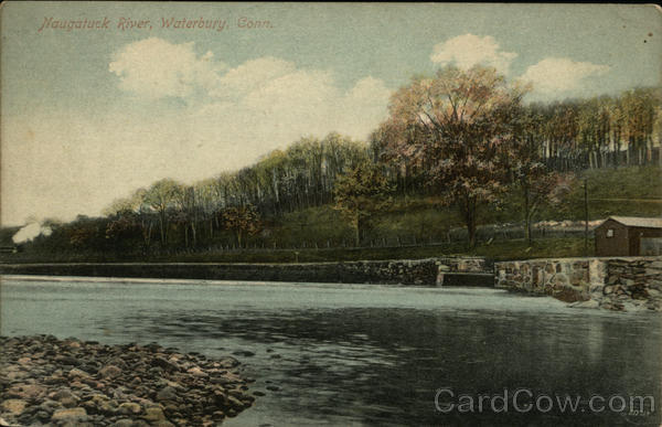 View of Naugatuck River Waterbury Connecticut