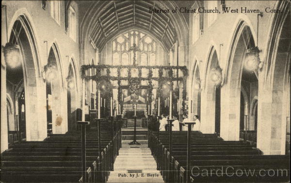 Interior of Christ Church West Haven Connecticut