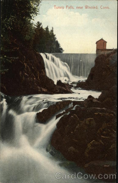 View of Tunxis Falls Winsted Connecticut