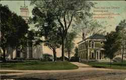 Town Hall and Library Building and Congregational Church