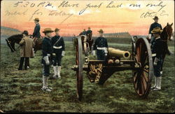 Soldiers with Cannon, 1907