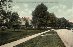 A View on West Lane, showing H.P. Bissell's Residence
