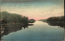 View Down East Haven River Postcard