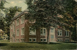 Waterside School Building Postcard