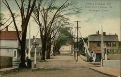 """Hyde's Crossing"", Elm Street from Christian Hill"