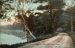 View of Lake and Road
