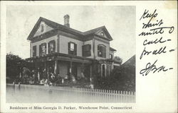 Residence of Miss Georgia D. Parker Postcard