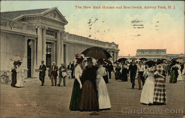New Bath Houses and Boardwalk Asbury Park New Jersey