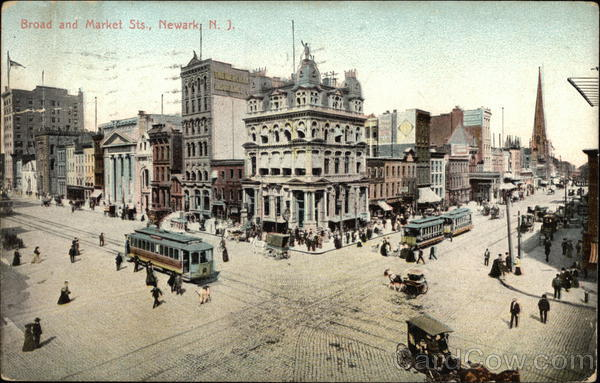 Broad and Market Streets Newark New Jersey