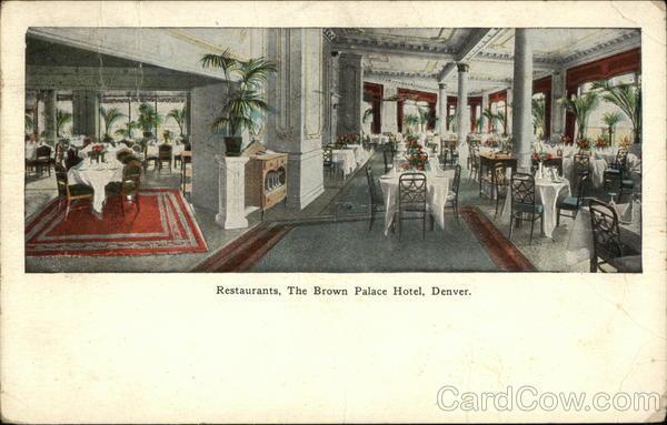 Restaurants, The Brown Palace Hotel Denver Colorado
