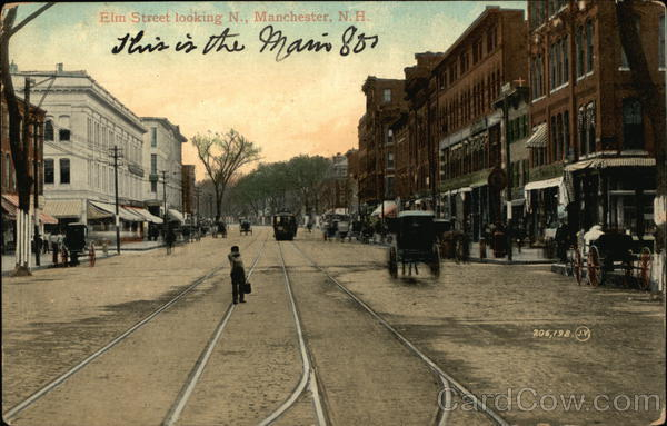 Elm Street Looking N. Manchester New Hampshire