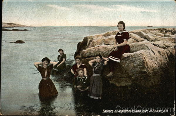 Bathers at Appledore Island Isles of Shoals New Hampshire