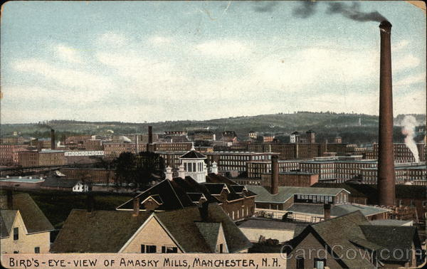 Bird's Eye View of Amasky Mills Manchester New Hampshire