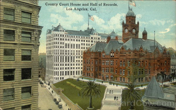 County Court House and Hall of Records Los Angeles California