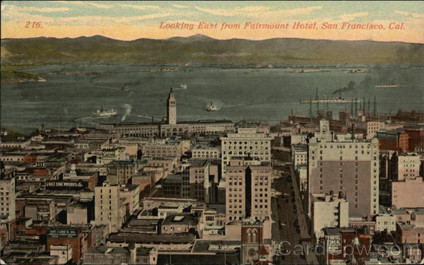 Looking East from Fairmount Hotel San Francisco California