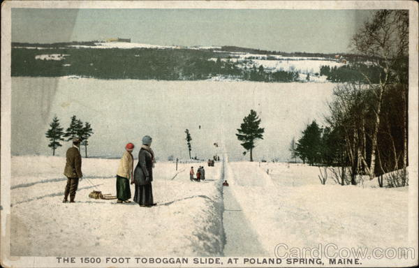 The 1500 foot Toboggan Slide Poland Spring Maine