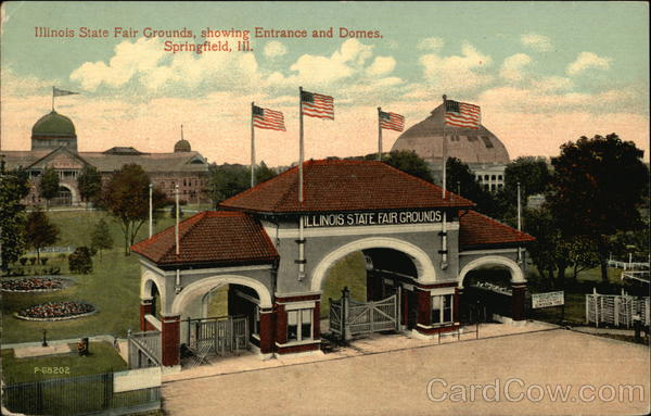 Illinois State Fair Grounds, showing Entrance and Domes Springfield