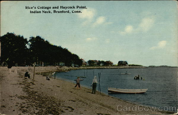 Rice's Cottage and Haycock Point, Indian Neck Branford Connecticut
