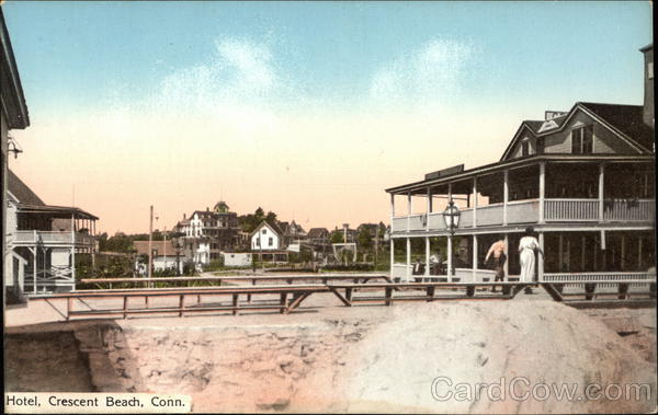 View of hotel crescent beach ct postcard view of hotel crescent beach connecticut sciox Choice Image