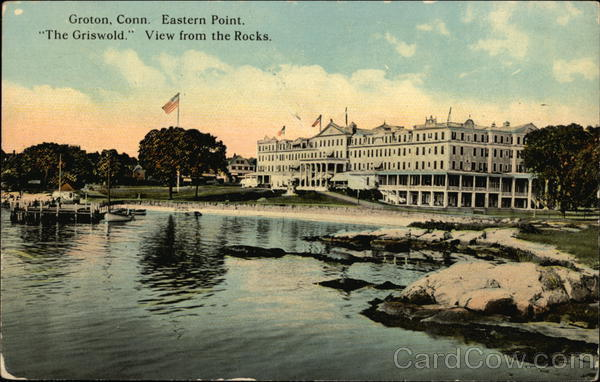 Eastern Point, The Griswold, View from the Rocks Groton Connecticut