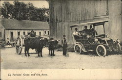 Cy Perkins' Oxen and the Auto - Renault