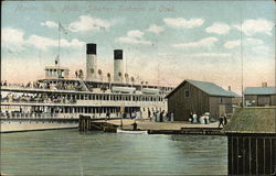 "Steamer ""Tashmoo"" at Dock"