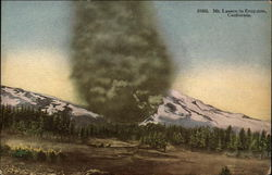 Mount Lassen Eruption Postcard