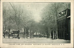 Village Park and Soldiers Monument in Winter