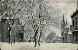 Snow Covered Dewitt Street, looking North