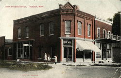 Bank and Post Office Postcard