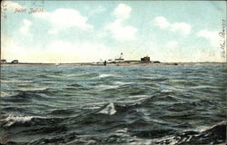 Lighthouse Station Postcard