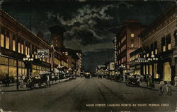 Main Street Looking North by Night