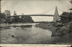 The Old Chain Bridge Between Amesbury And Newburyport