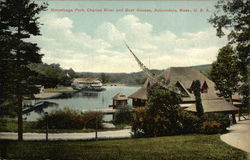 Norumbega Park, Charles River and Boat Houses