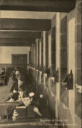 Avon Old Farms - Students in Study Hall Postcard
