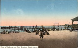 View of Bathers and Pier