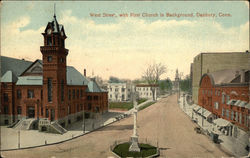 West Street, with First Church in Background